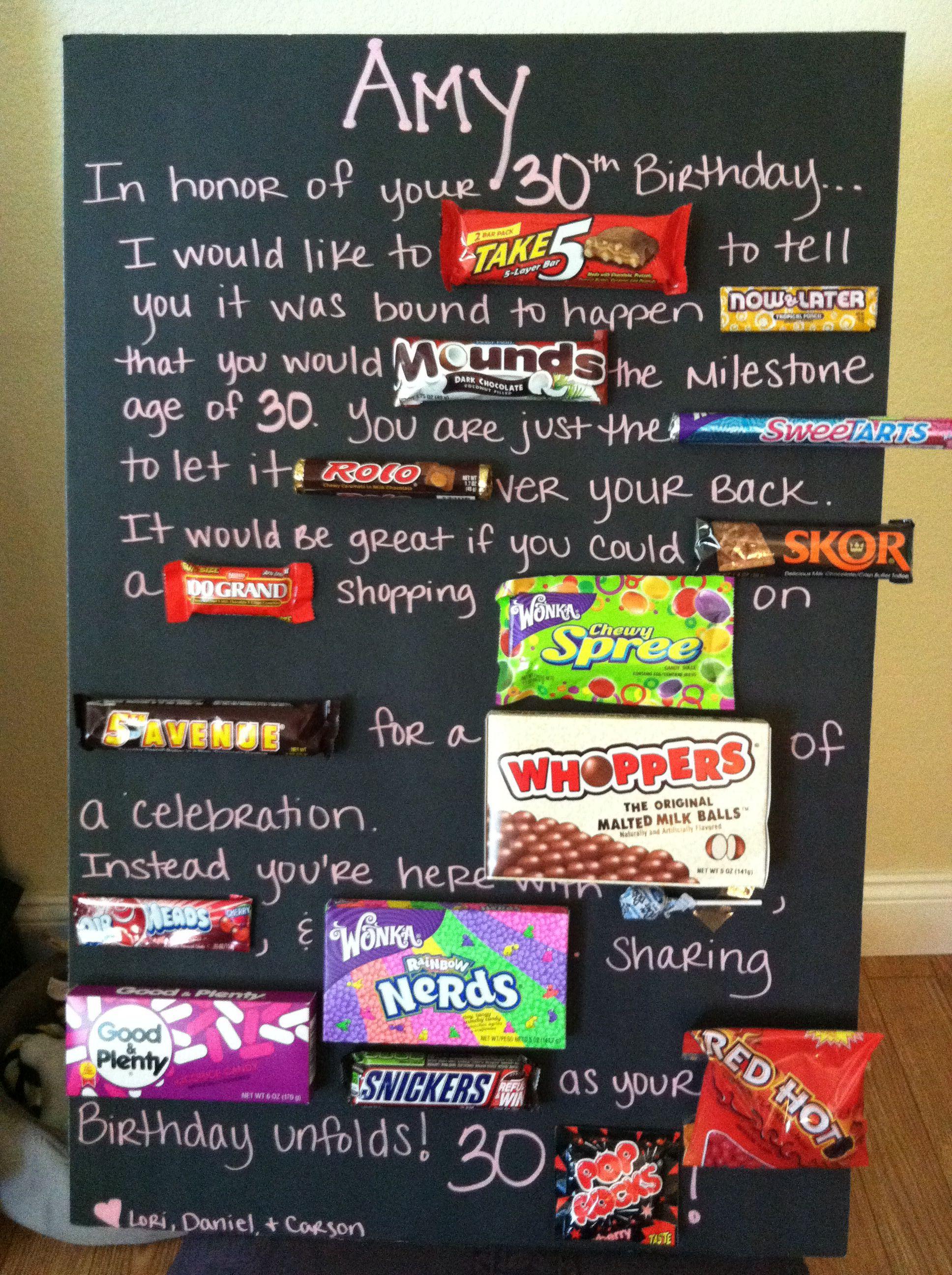 30th Birthday Idea  Parrrrrty  30th Birthday Gifts 30th Birthday Birthday candy posters