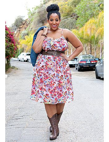 A Flirty And Feminine Plus Size Sundress In Floral Chiffon Take