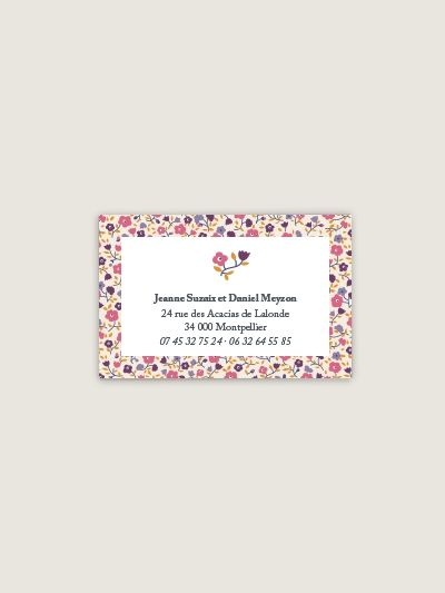 Cartes De Visite Personnalisables Au Motif Liberty Fairford Bois Rose O Dioton