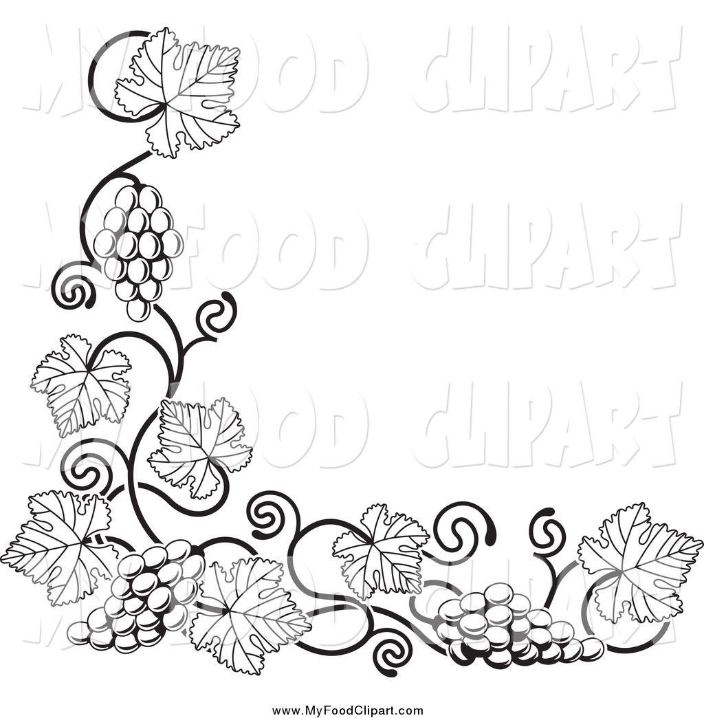 Food Clip Art Of A Black And White Gvine Corner