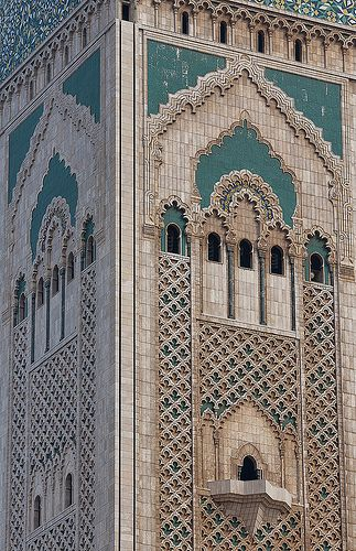 beautiful design and detail at the amazing Hassan II Mosque in Casablanca, Morocco | Flickr - Photo Sharing!