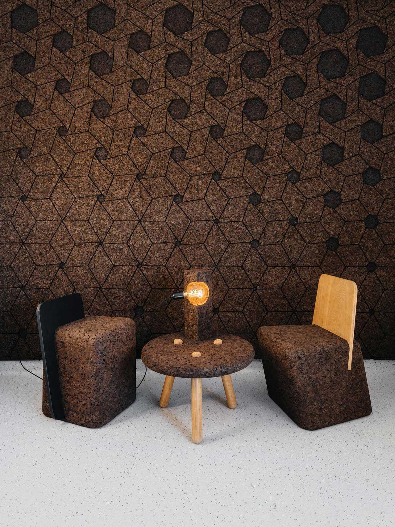 Gencork Debuts Cork Furniture And Surfaces By DIGITALAB   Design Milk