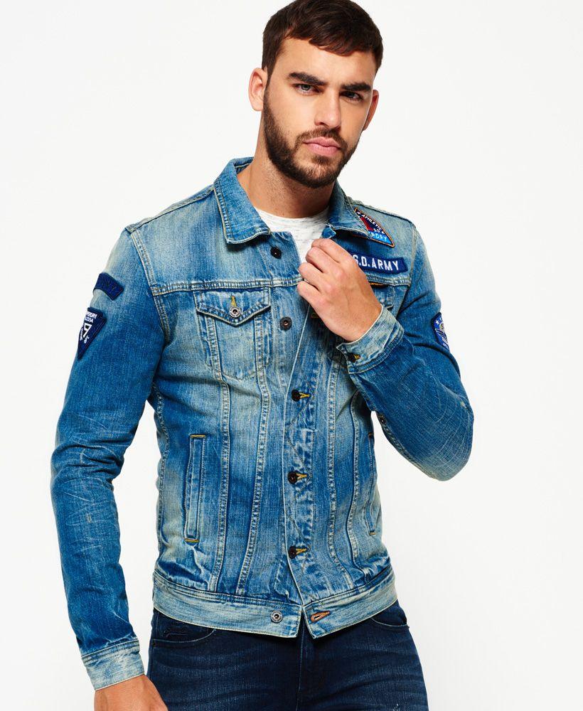 Superdry Rogue Patch Trucker Denim Jacket Denim Jacket Classic Denim Jacket Denim Fashion [ 1000 x 820 Pixel ]