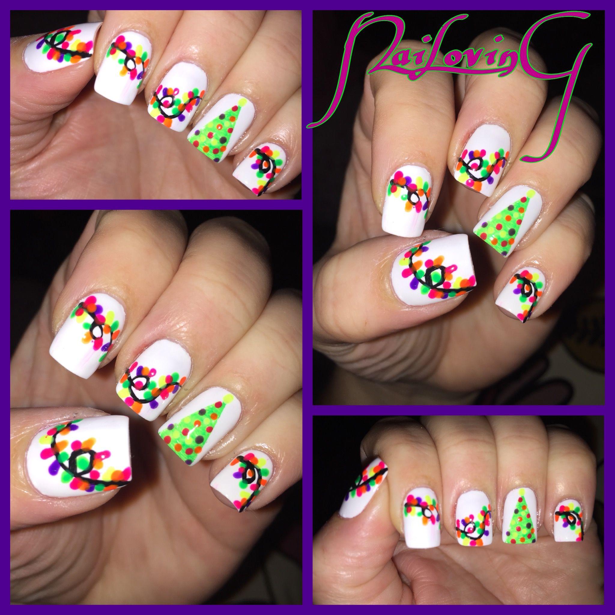 #neonchristmastree #inspired by @ohmygoshpolish #ChristmasNails #christmastreenails #featuremynails #fashionaddictxo #ignails #notd #notn #nails #nailart #nailoving #nailaddict #nailartaddict #nails2inspire #nails4yummies #nailsoftheweek #notd365nailart #nailsofinstagram #nailporn #christmaslightnails #neonnails #polishaddiction #sgnailartpromote #thenailartdiaries