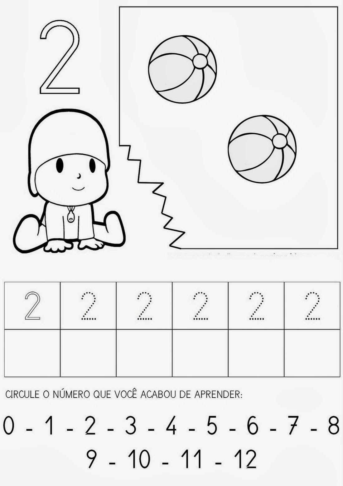 Atividades Com O Numero 2 Atividades Numerais Atividade Numero