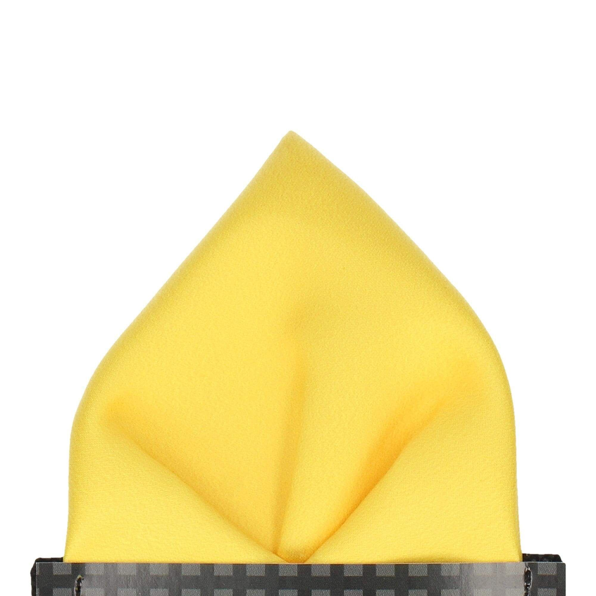 Plain Solid Yellow Pocket Square