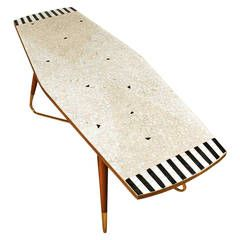 """Mosaic"""" Coffee Table from the 1950s   From a unique collection of antique and modern coffee and cocktail tables at https://www.1stdibs.com/furniture/tables/coffee-tables-cocktail-tables/"""