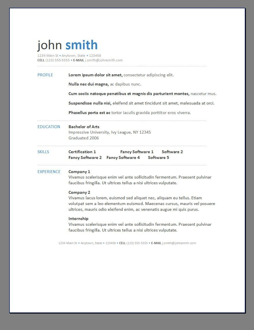 Modern Resume  Posts Related To Resume Template Modern   Life