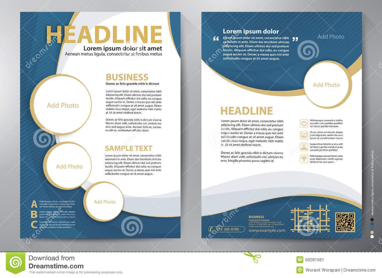 Brochure design a4 vector template download from over 53 for Free business brochure templates download