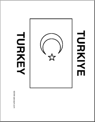 Flag Turkey Line Drawing Of Turkish Flag To Color Writing Forms New Teachers Word Puzzles