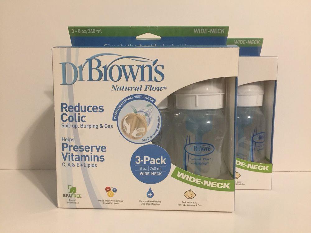 Dr browns natural flow 8 oz bottles wideneck 6 pack