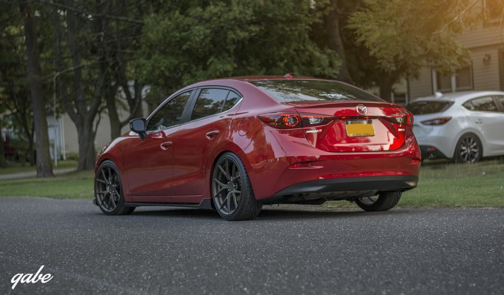Mazda 3 2014 Black Rims Morr Wheels 19x8.5 With