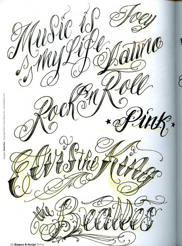 Cursive Tattoo Fonts | tattoo letters in cursive. free tattoo ...