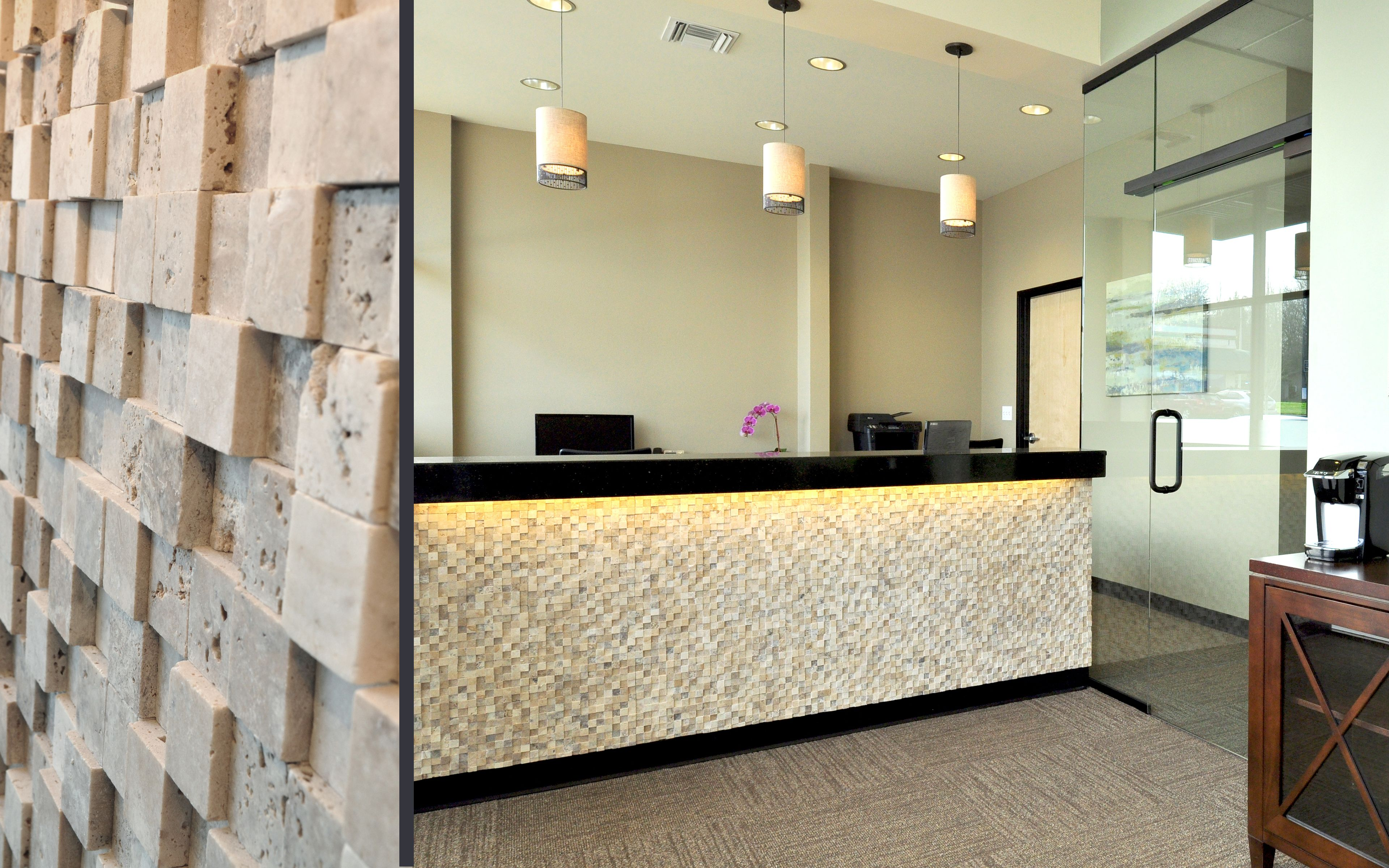 doctors office design. Cooper Mountain Dental - Reception Desk Tile, Office In Beaverton, OR Design By Emmett Phair Doctors O