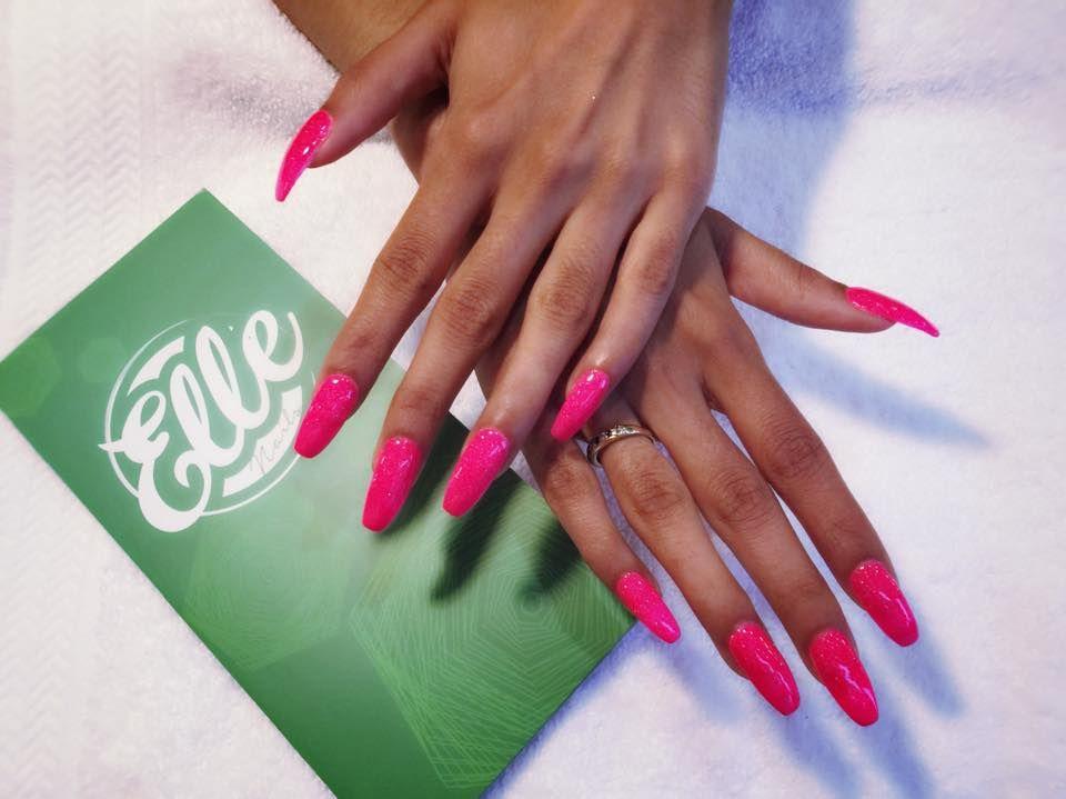 Acrylic Nails At Elle Nails Spa West Loop Nailsalon Manicure Pedicure Spa Acrylicnails Dippingpowder Eyelashextension Waxi Nail Spa Acrylic Nails Nails