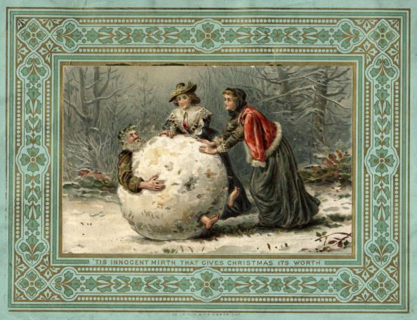 9 Bizarre Christmas Cards from the 1800s | Snowball, Father ...