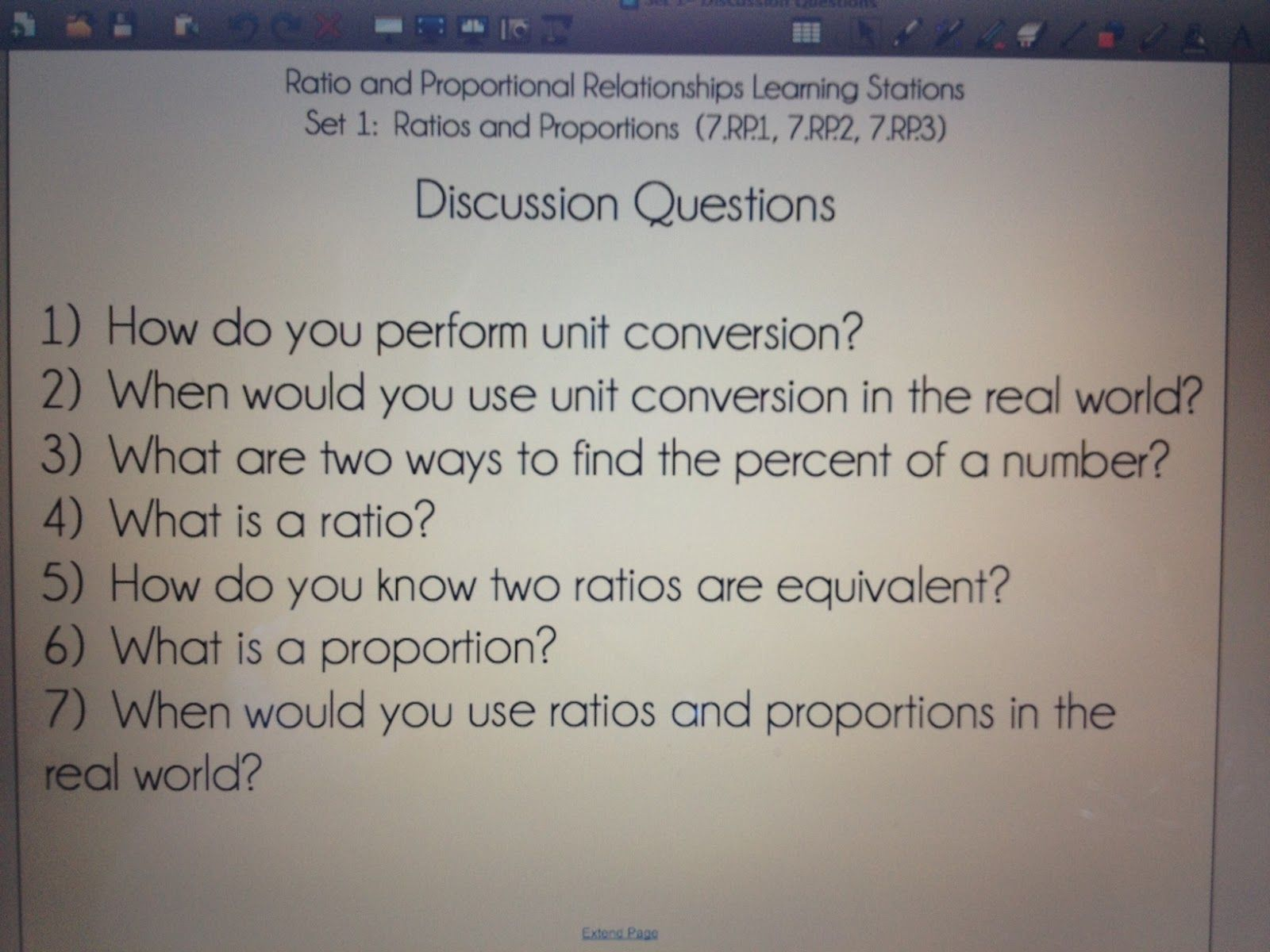 Learning Stations Ratios And Proportional Reasoning