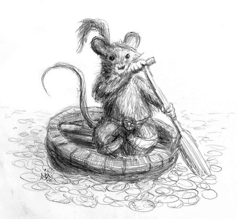 Reepicheep in his Coracle by Jef Murray | C.S.Lewis <3 | Pinterest ...