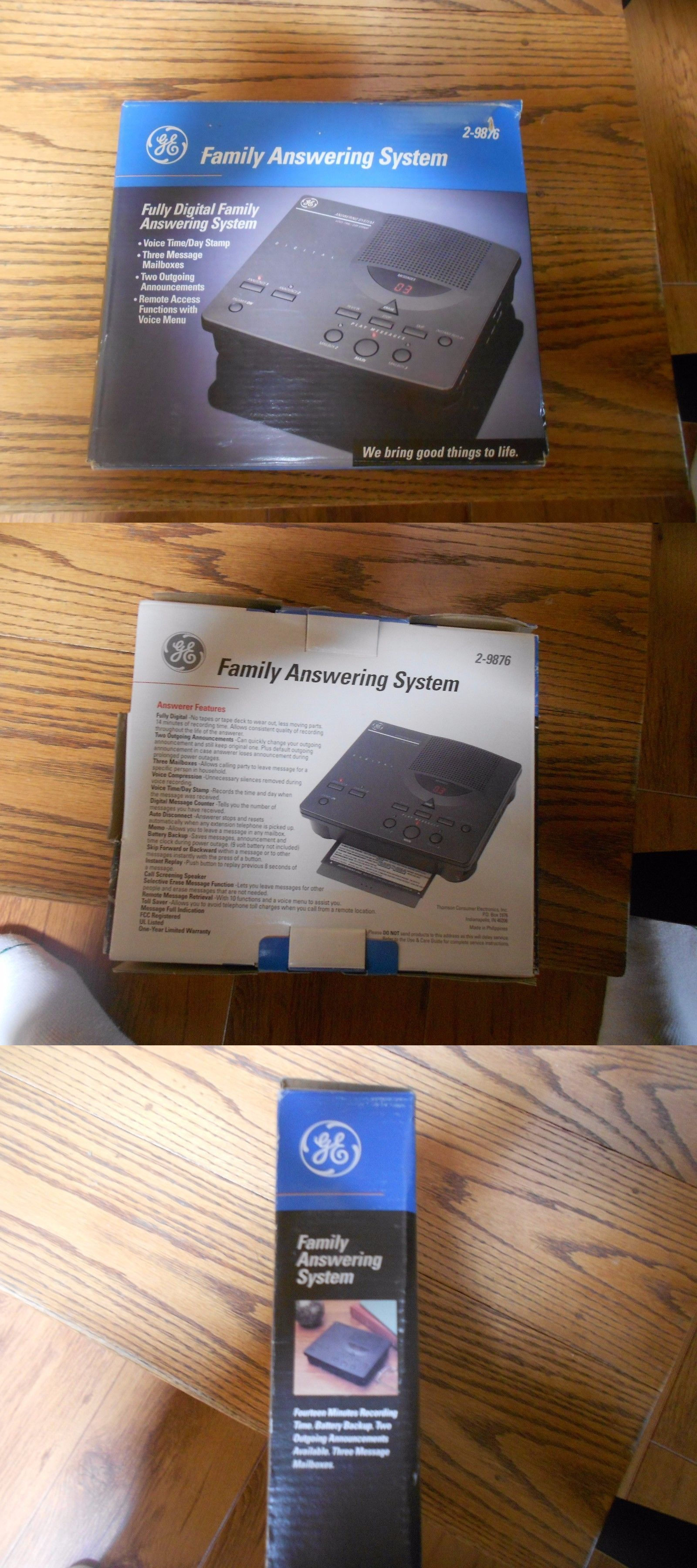 Answering Machines Ge 2 9876 Fully Digital Family Answering System