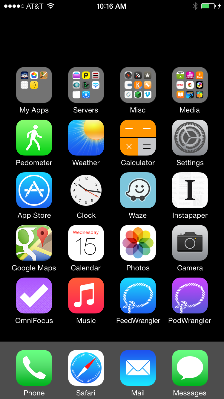 Invisible iOS Home Screen Icons David Smith Screen