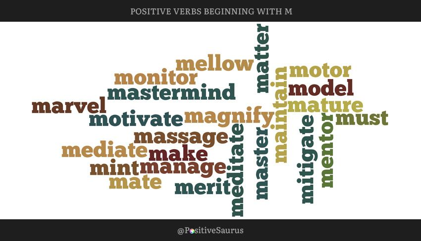 nice words that start with m