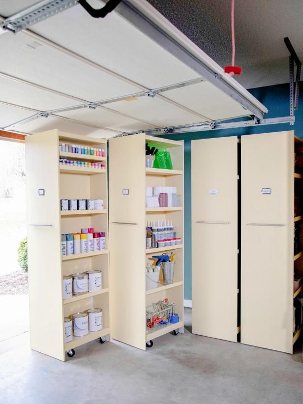 How to Build Rolling Garage Storage Shelves