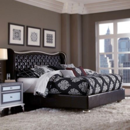 Aico Hollywood Swank Starry Night Bed Bedroom Bed Frame Gallery Furniture Houston Tx Luxury Bedroom Furniture Home Decor Hollywood Swank Bedroom