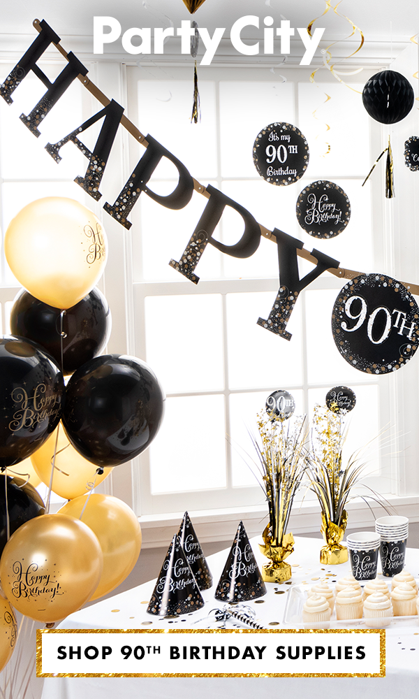 With You For Every Milestone Shop Party City For 90th Birthday Party 60th Birthday Party Supplies 60th Birthday Party Decorations 70th Birthday Party Supplies