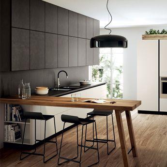 матовая поверхность кухни + форма верхних шкафов   Kitchen ...