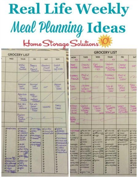 Weekly Meal Planner Hall of Fame Ways To Plan Family Meals Weekly