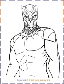Black Panther Coloring Pages For Kids Print Out Superhero Pages To Color Black Panther For K Superhero Coloring Pages Black Panther Drawing Avengers Coloring