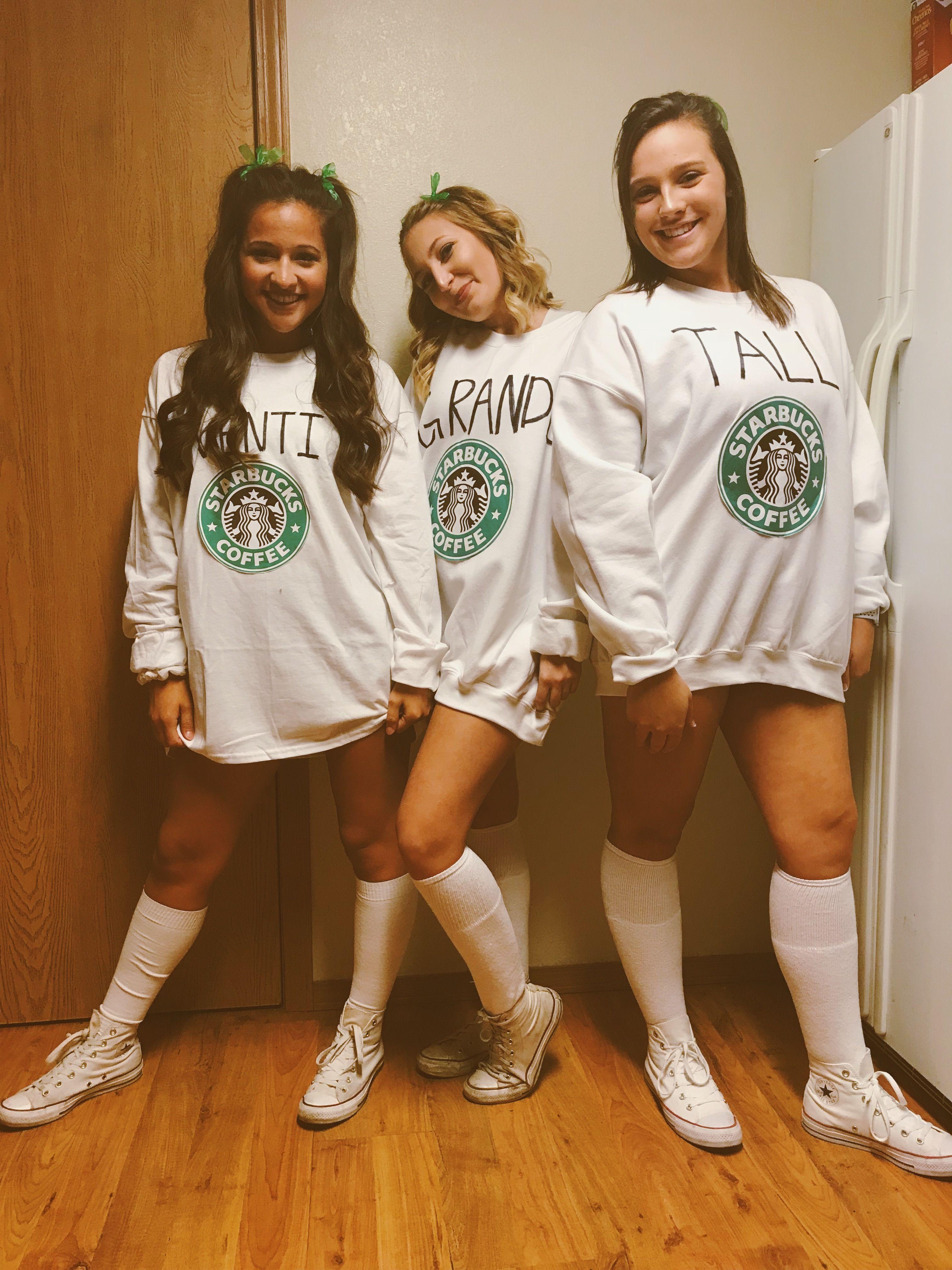 3 Person Costume Ideas : person, costume, ideas, Starbucks, Halloween, Costume, #Halloween2017, #Starbucks, #bffhalloweencostum…, Costumes, Teens, Girls,, Costume,