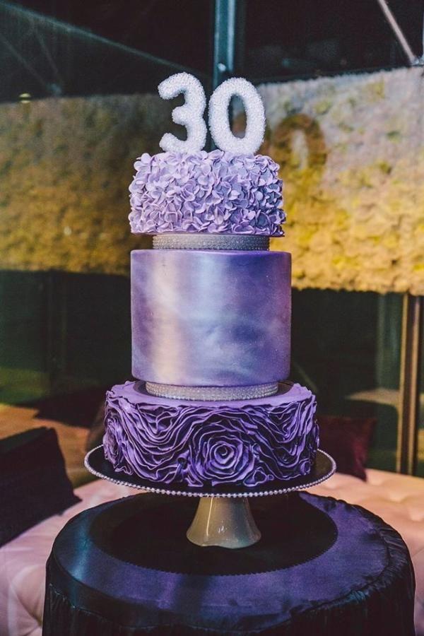 30th Birthday Cake Purple Fondant Bling Glitz K 30 Birthday Cake Bling Cakes Tiered Cakes Birthday