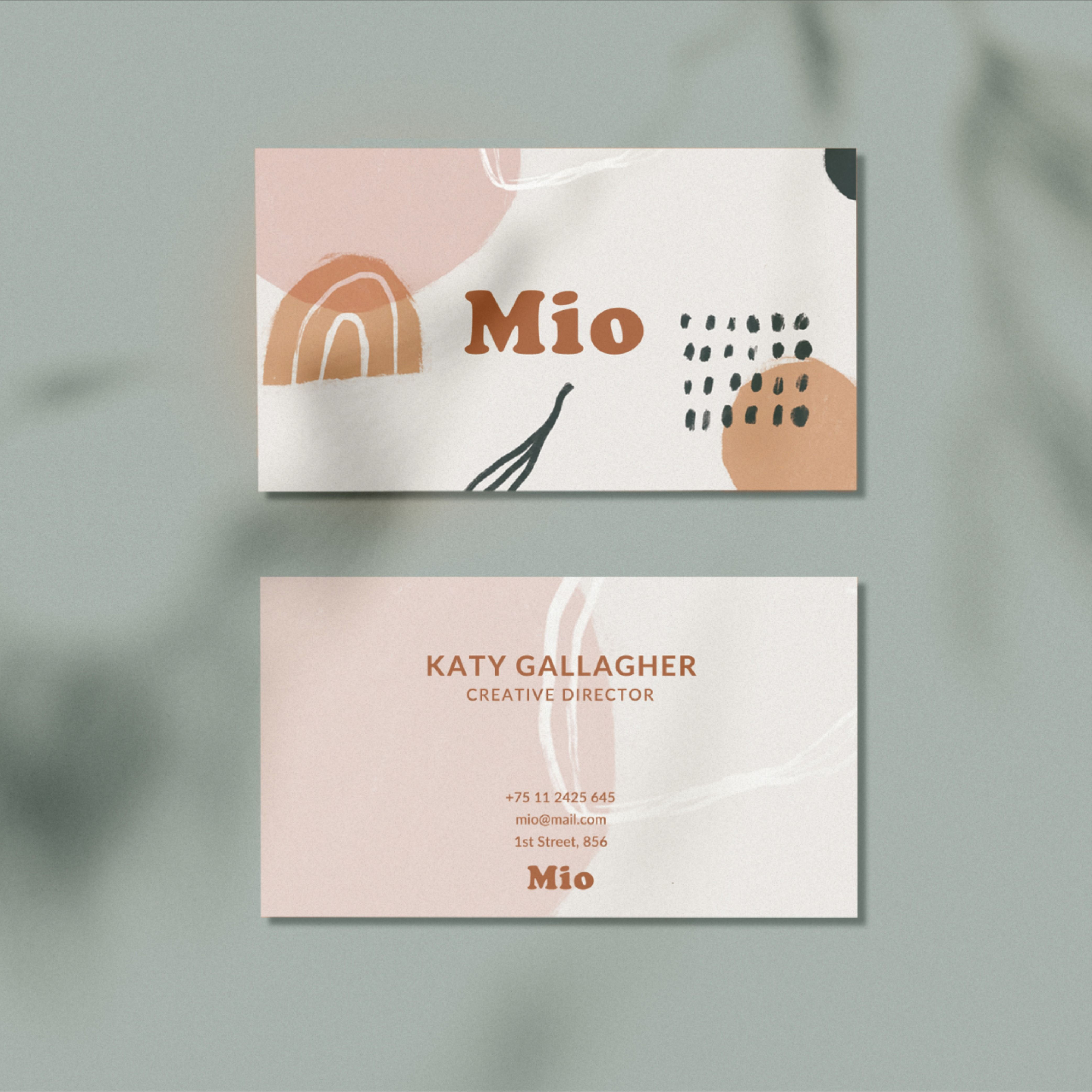 Minimalist Business Card Baby Boutique Business Card Abstract Design Premade Business Card Stylish Stationary Printable Kids Brand Boutique Business Cards Graphic Design Business Card Create Business Cards
