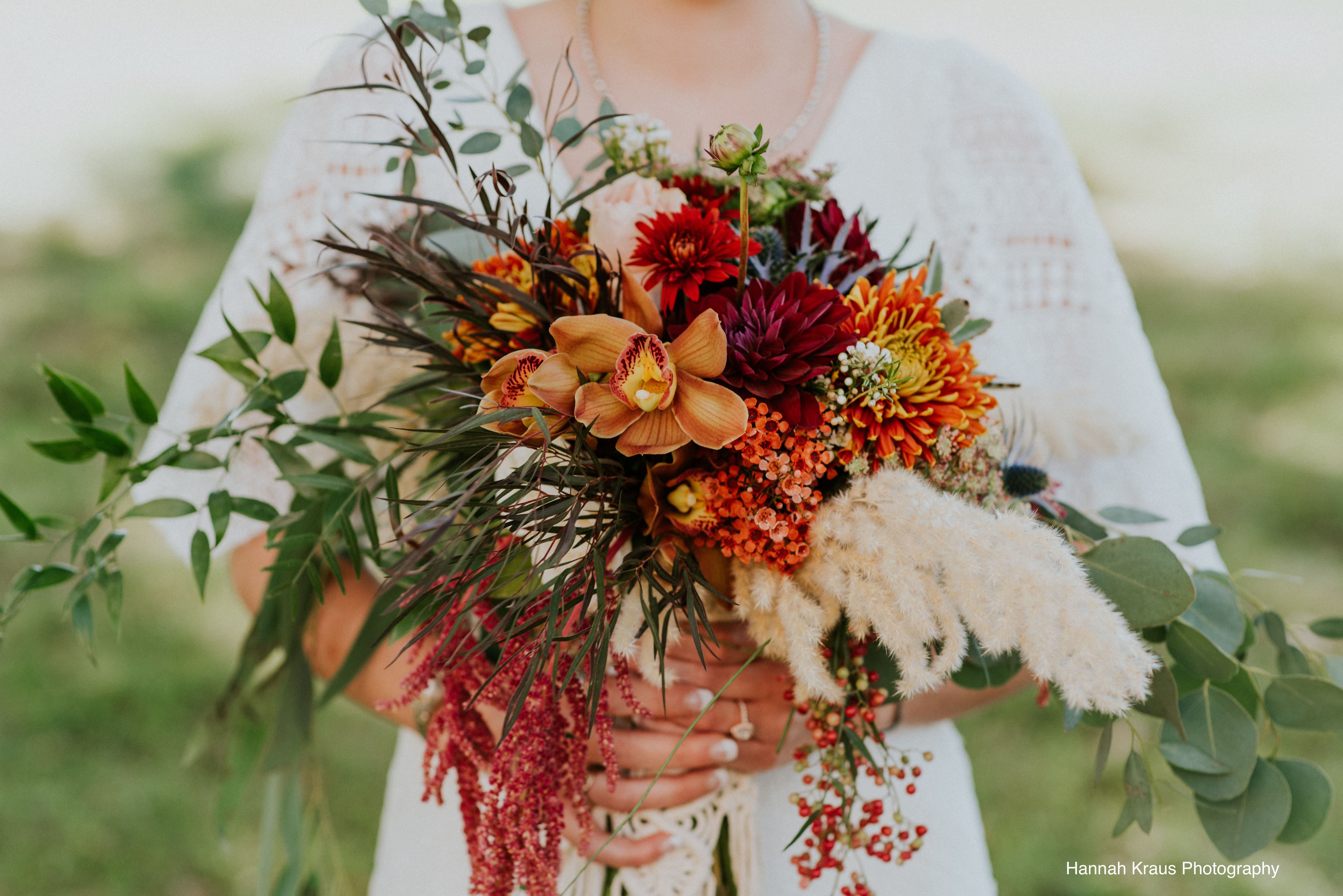 This Fall Bouquet Might Be My Favorite Texture Color Design Orchids Pampas Dahlias Pepperberry Photo By With Images Fall Bouquets Floral Studio Christmas Wreaths