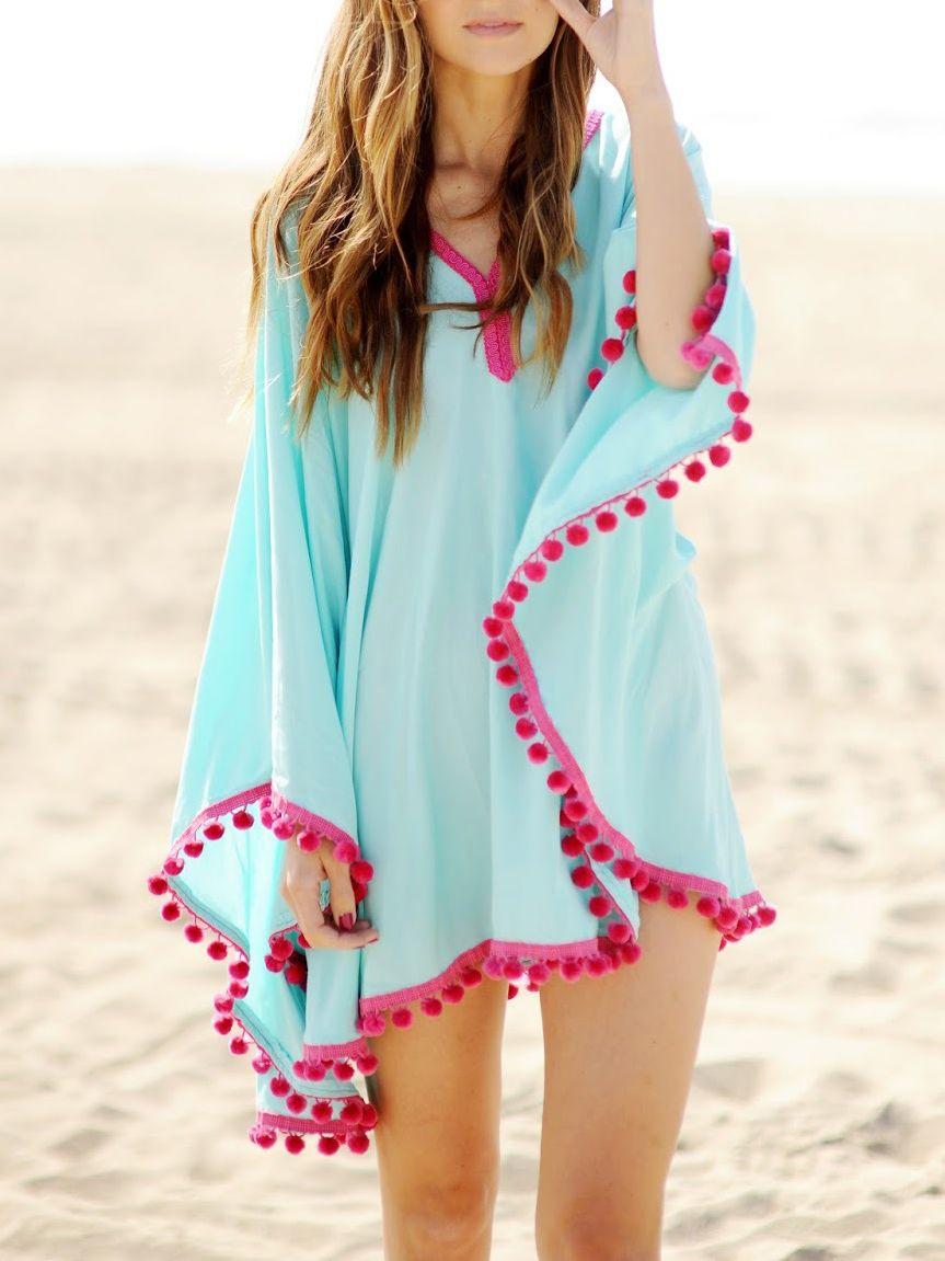 Poncho fashion summer dress