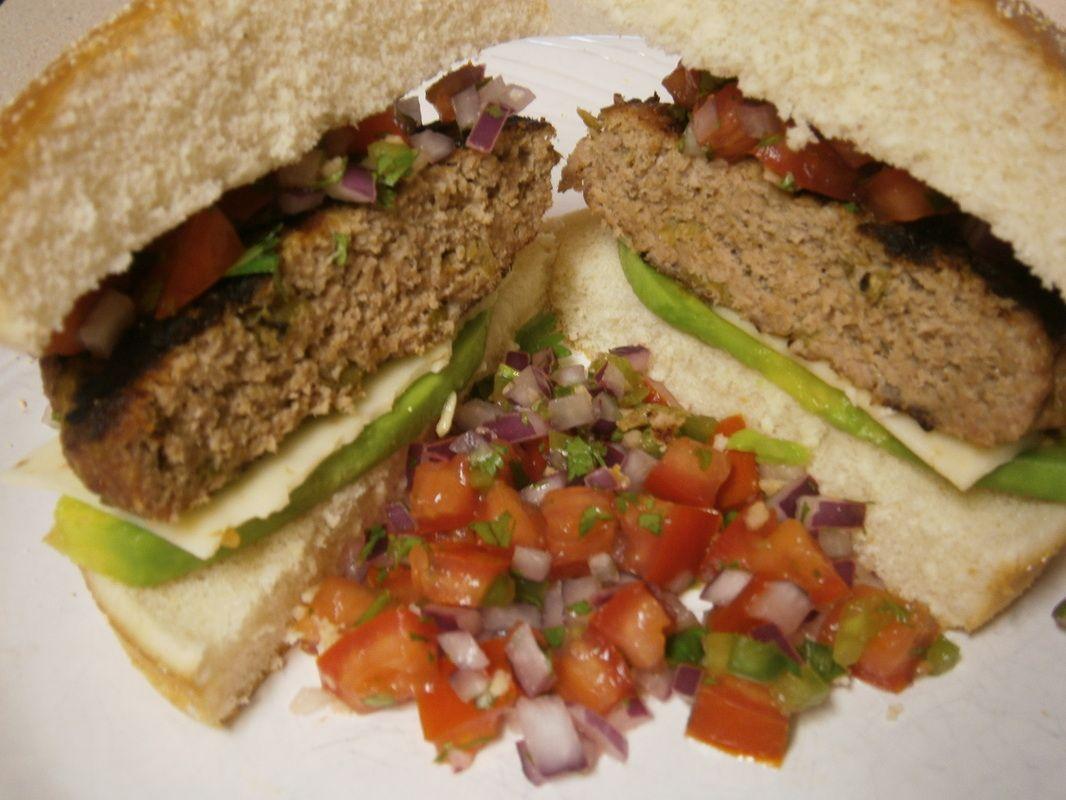 Southwestern Turkey Burger with Avacodo and Pico de Gallo