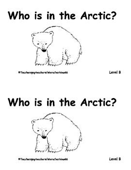 Arctic Animals Printable Book: Guided Reading Level B