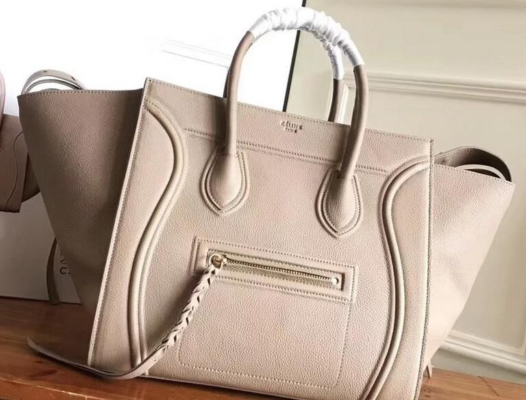 2018 Celine Luggage Phantom Bag in Original Grained Leather Beige ... 6ecd158d90505