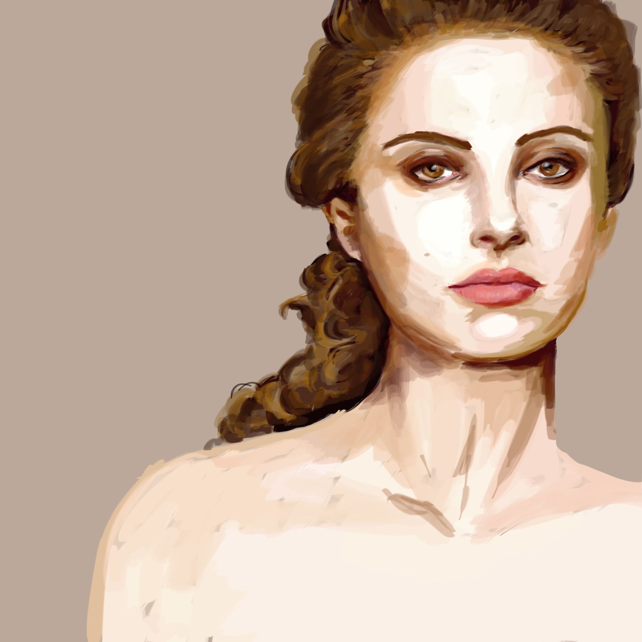 Padme Amidala Star Wars Digital painting Natalie Portman