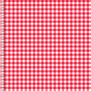 99def49be87 Bittersweet Red Gingham Cotton Jersey Blend Knit Fabric | fabrics ...