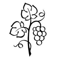 Grapes On The Vine Clip Art Google Search Vine Drawing Grape Drawing Leaves Doodle