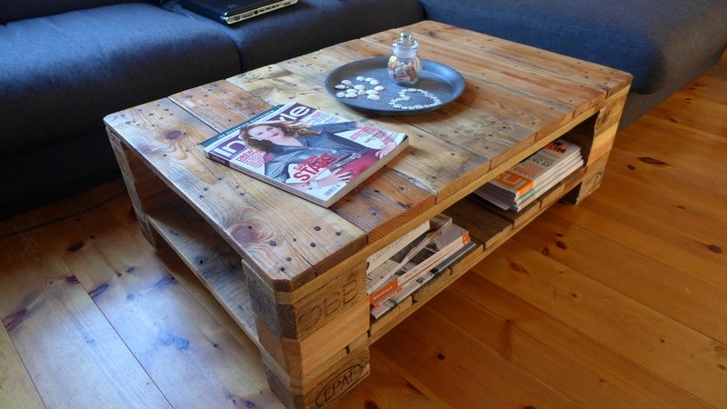 Couchtisch Aus Europalette Im Loft Style Von Creatiw Auf DaWanda