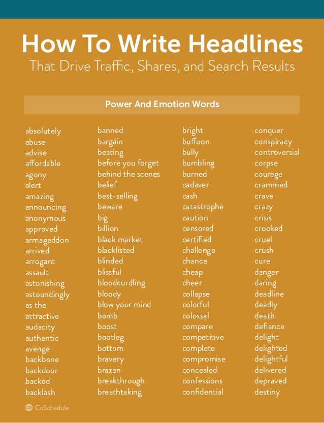 how to write headlines that drive traffic  shares  and search results