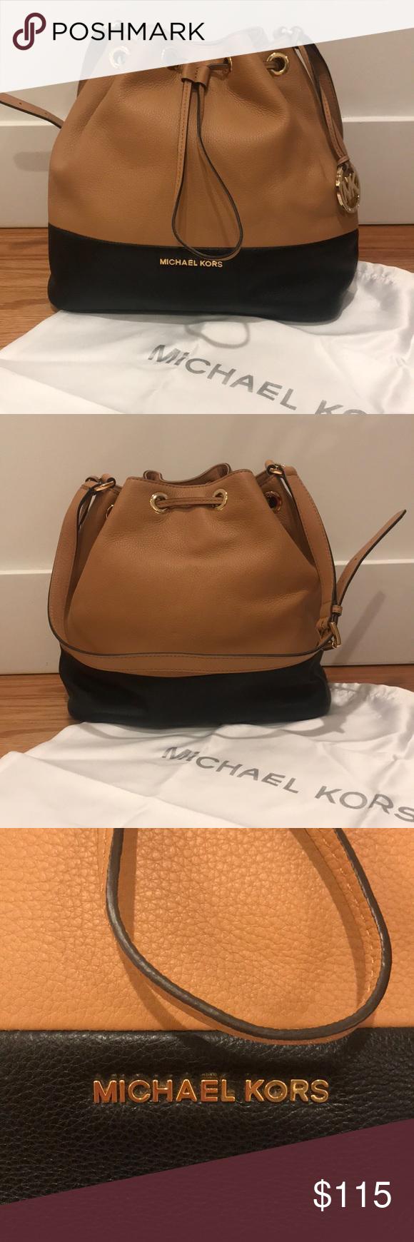 2fc57722e445d6 Michael Kors Jules Leather Drawstring Bag Michael Kors large Jules  drawstring leather purse. Beautiful colorblock