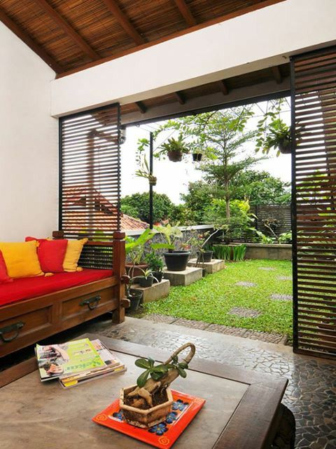 Taman yg paling indah hanya kami backyard patio simple house also best images in rh pinterest