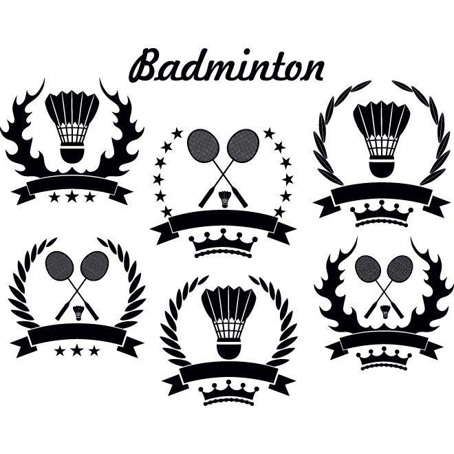 free vector vintage style badminton logo template free vector art