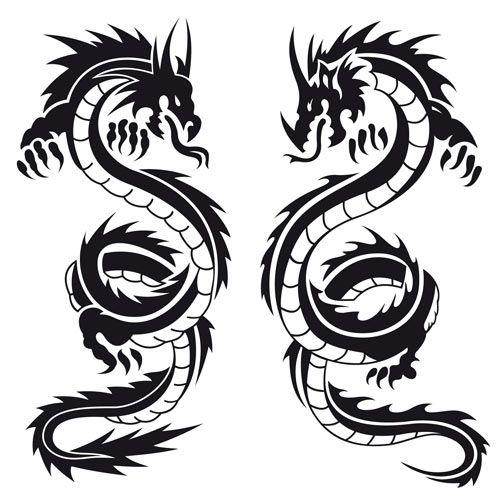Awesomest Black Tattoo Designs How To Tattoo Clipart Best Clipart Best Black Dragon Tattoo Asian Dragon Tattoo Dragon Silhouette