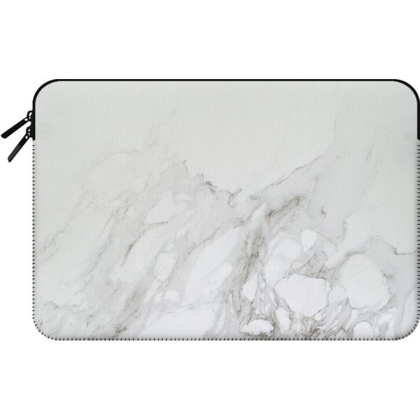 Marble Fade - Macbook Sleeve (225 SAR) ❤ liked on Polyvore featuring accessories, tech accessories and macbook sleeve