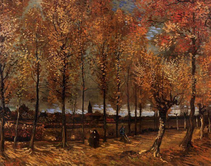 Lane with Poplars by Vincent van Gogh #art
